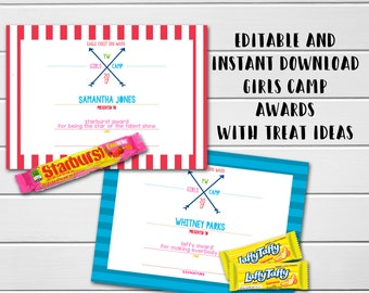 Moana editable instant download birthday invitation editable young women girls camp awards lds girls camp editable awards candy treat award stopboris Images