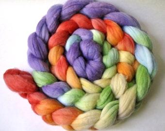 Merino Spinning Fiber Roving Top 'Violet Rainbow'