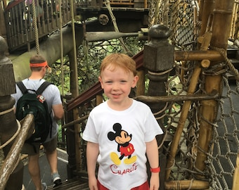 Boys Personalized Mickey Mouse Tee - Long or Short Sleeves