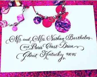 Luxurious and  Beautiful Envelope Addressing for Weddings and other Occasions - Paris Script