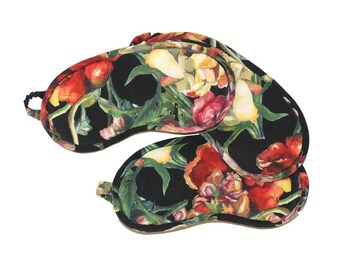 Floral Silk Sleep Mask