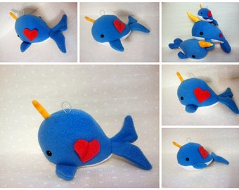 Narwhal - Hanging Decor -ornament -Made to Order