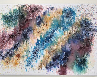 Black Friday | Cyber Monday | A4 Hand Painted Watercolour Abstract Canvas | Painting | Wall Art | Housewarming | One Of A Kind  | Charity