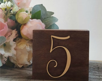 Wood Block Table Numbers for Weddings, Rustic Wood Block Table Numbers, Wood Block Numbers, Wooden Table Numbers for Wedding Table Numbers