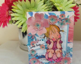 Friendship Card, Thinking of You card, friendship, thinking of you, girls, women