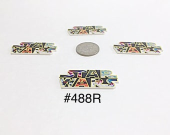 3 or 5 pc Star Wars Planar Resin Flat back Cabochon Hair Bow Center Craft Supply