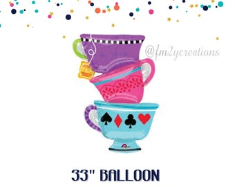 "Tea Cup Party 33"" Balloon 
