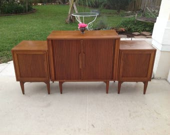 "MID CENTURY MODERN Nightstands / 27""x 18""x 18""Edmond Spence Style Modern Side Tables / Nightstands Eames Era Ponti style at Retro Daisy Girl"
