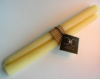 Beeswax Dinner Candles 10 Inch pair