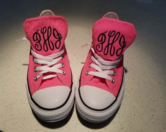 Embroidered Monogrammed Converse **wedding party discount**