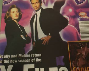 Shivers Magazine- X-Files feature- Vintage 1990's