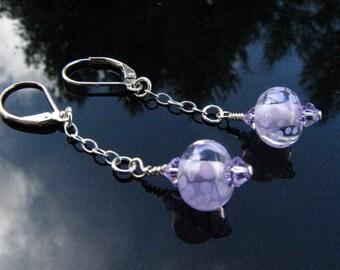 Lampwork Bead Earrings Handmade Glass Handcrafted Wearable Art Jewelry SRA SRAJD