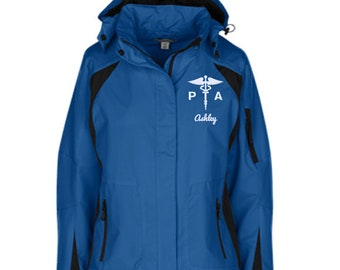 Physical Therapy Assistant Winter Jacket /  Physical Therapy Assistant Gift / Physical Therapy Assistant Personalizable Jacket - PRN-038B