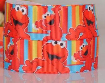"Elmo Grosgrain 7/8"" Printed Ribbon"