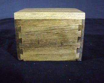 wood pet urn small