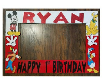 Mickey Mouse Photo booth Frame - Mickey Mouse and Friends Photo Booth and Props - Mickey photobooth and props