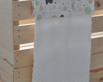 Cute as a Button Hanging Towel--Dots