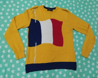vintage CASTELBAJAC SHIRT long sleeve womens fits to size M