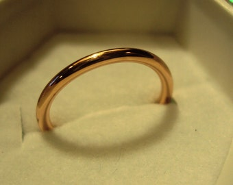 Jewelry, Ring, pink gold,14kt  rose gold filled , 14g band, metalwork, stacking, stacker, simple, plain, smooth, any size