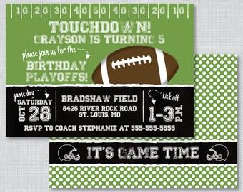 Football Birthday Party Invitations, Football Birthday Party, Birthday Party Invite, Birthday Invitations, Football Invitations, BP1008