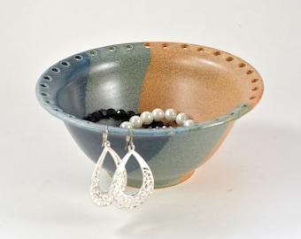 Jewelry Bowl Earring Holder Handmade Wheel Thrown Pottery