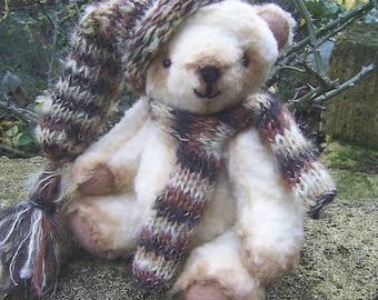 Teddy Bear Antique teddy bear Vintage toy Vintage wool Vintage Woolen Bear Teddy bear Tisha