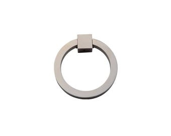 "Ring Pull 3"" Round Brass SN"