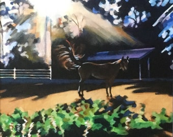 Backlit, Horse Painting