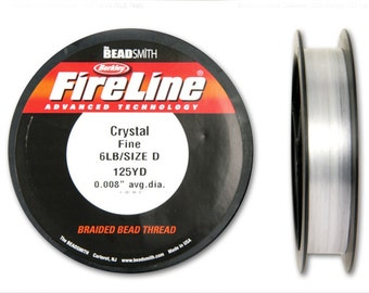 Fireline Crystal 6LB 125 YDS  Size D Braided Bead Thread