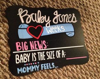 Maternity/Pregnancy Milestone monthy reusable Chalkboard