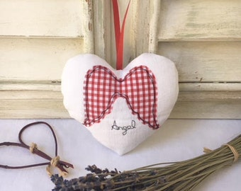 Lavender heart with angel wings