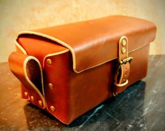 Custom leather Dopp kit