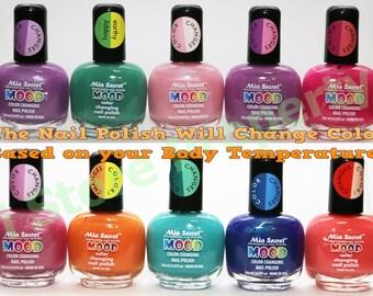 Mia Secret - Mood Color Changing Nail Polish 10 Colors -Choose your Favorite Color