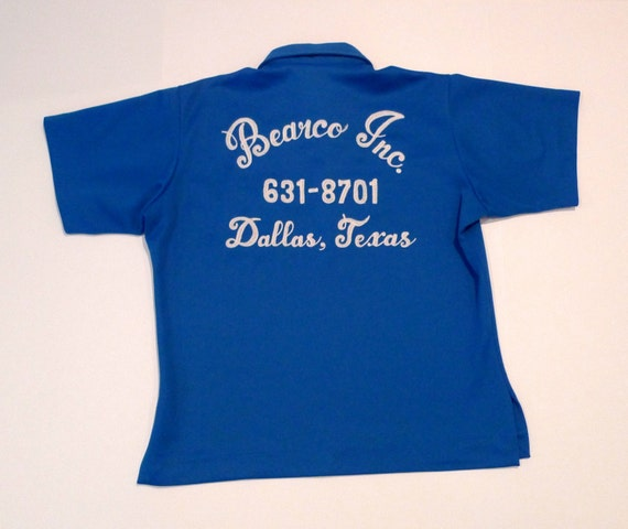 Hilton Bowling Shirt Vintage Bell Systems Personalized Curtis Henigan Dallas Texas 1950s 1960s Rockabilly 16 Medium Large Telephone Company DnmBYI4