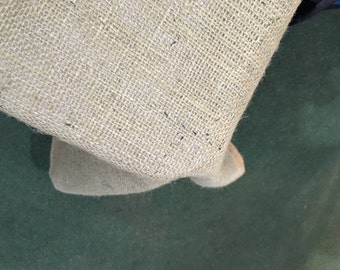 2m x 1.5m Hessian Tablecloth, Fully Hemmed, Vintage Shabby Chic Look.