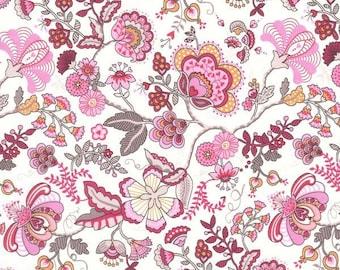 Liberty Tana Lawn fabric Mabelle rose -  carré de 25 cms x 25 cms idéal DIY