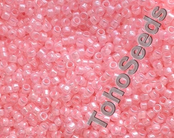 5g Toho Seeds Beads 15/0 Ceylon Innocent Pink TR-15-145 Rocailles size 15 small mini rocailles 1mm rose rosaline baby pink