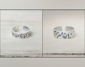 Harry Potter Inspired Ring - Hand Stamped - Lumos - Hogwarts
