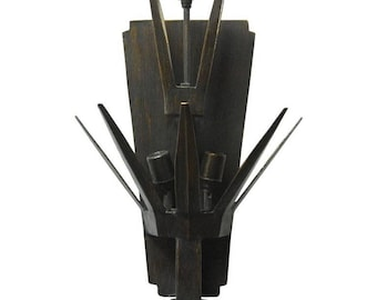 Brutalist Three-Light Sconce by Richard Ray