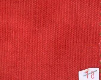 Light cotton canvas, red no18