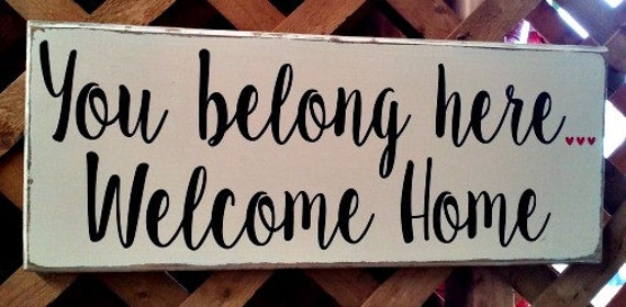 Welcome Home Sign Home Decor Front Door