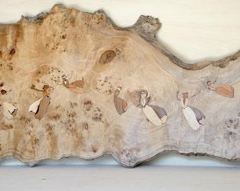 Wood Wall Art - Wood Headboard - Stunning Poplar Burl with wonderful and unique craftsmanship - Arlésiennes