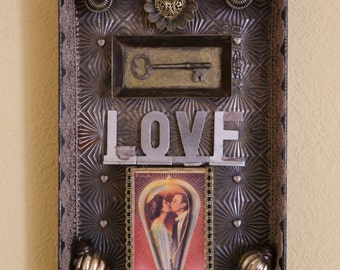 The LoveLight Tin - Found object Assemblage