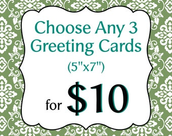 Choose Any 3 Greeting Cards