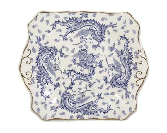 Chinoiserie Dragon Cake Plate