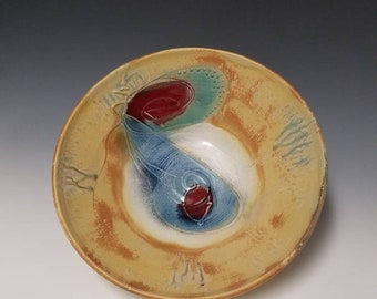 Handmade, wheel thrown ceramic serving bowl #1195