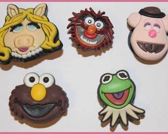 5 x Muppets Croc Shoe Charms Jibbitz *S65*