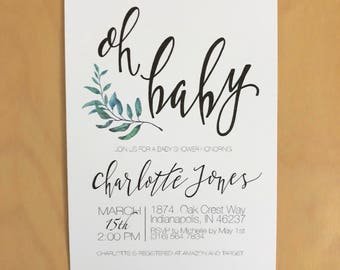 Oh Baby, Baby Shower Invitations