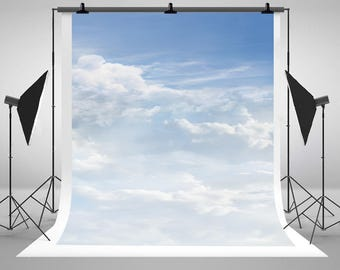 Blue Sky and White Clouds Photography Backdrops Newborn Baby Photo Backgrounds for Children Birthday Studio Props