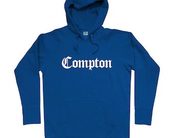 Compton Gothic Hoodie - Men S M L XL 2x 3x - Compton Hoody, Sweatshirt, Los Angeles, L.A., California - 4 Colors